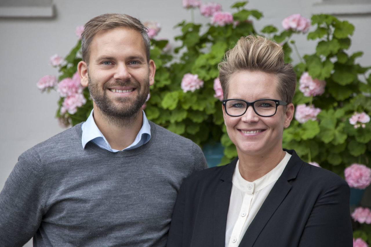 Jonas Skaaning og Kathrine Hendriksen. (Foto: Rudy Hemmingsen)